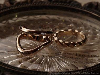 10金イエローゴールドを使用した指輪