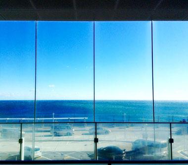 日立駅からの風景